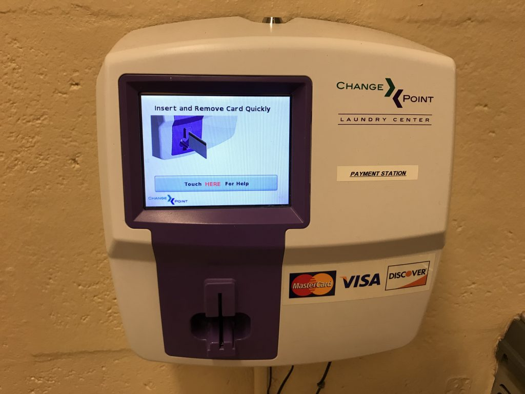 Fort Wilderness laundry payment station
