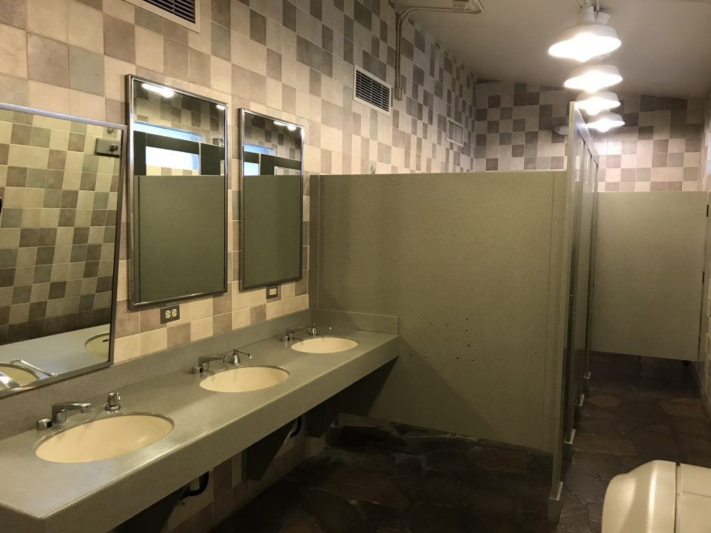 Fort Wilderness comfort station sink area