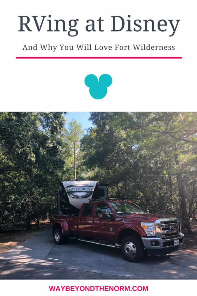 Do you own an RV or dream of owning an RV? Have you visited Walt Disney World or dream to go one day? Combine the two and you're a perfect candidate for a trip to Disney's Fort Wilderness Resort and Campground. #FortWilderness #DisneyCamping #DisneyResorts #WayBeyondTheNorm