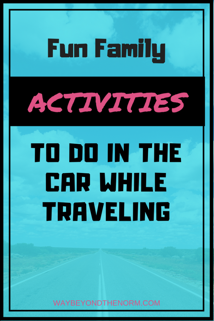 Fun family activities to do in the car while traveling