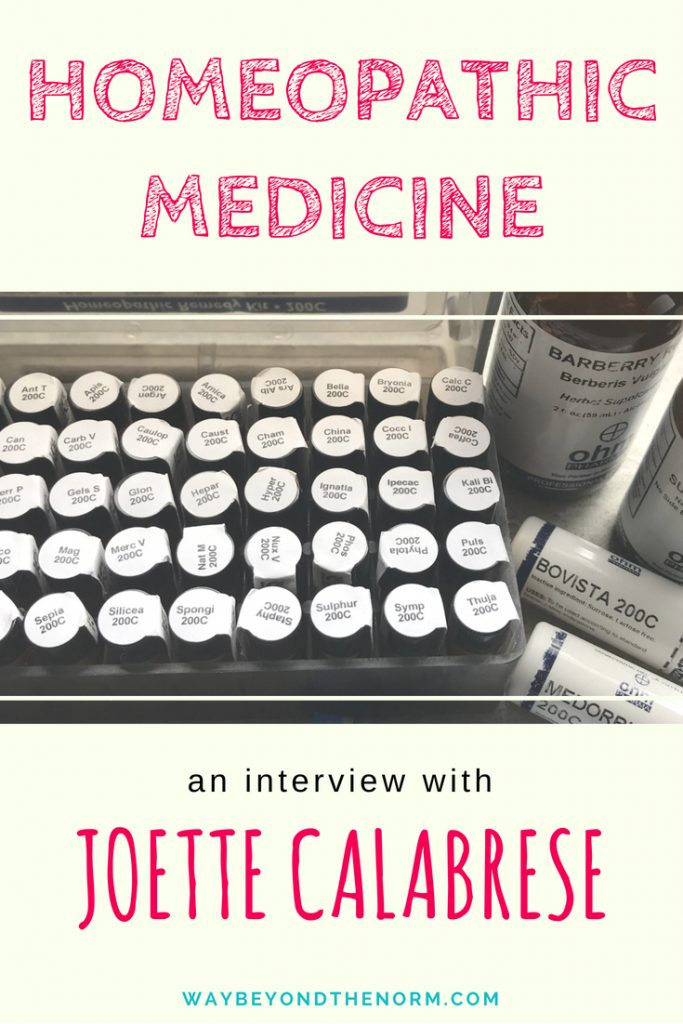 Homeopathic Medicine: An Interview With Joette Calabrese