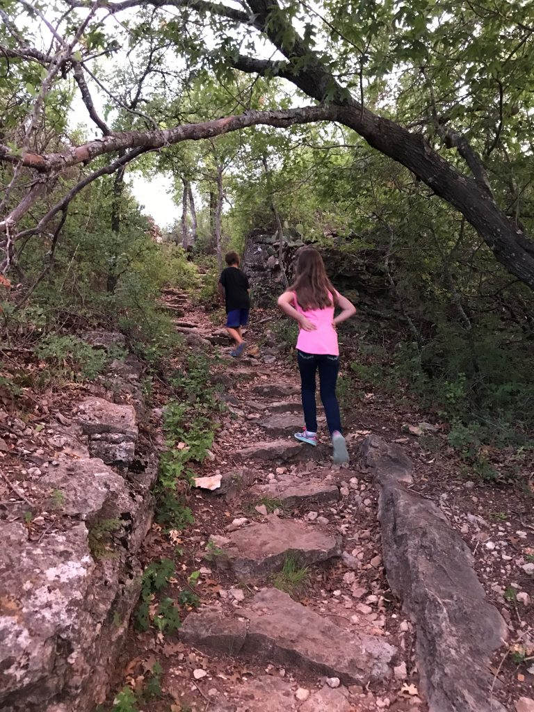 Lake Brownwood Council Bluff Trail staircase
