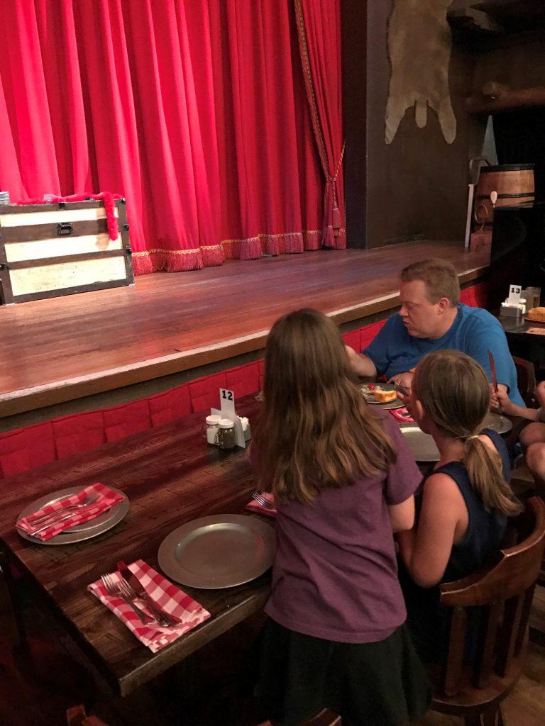 Hoop-Dee-Doo Musical Revue Front Table