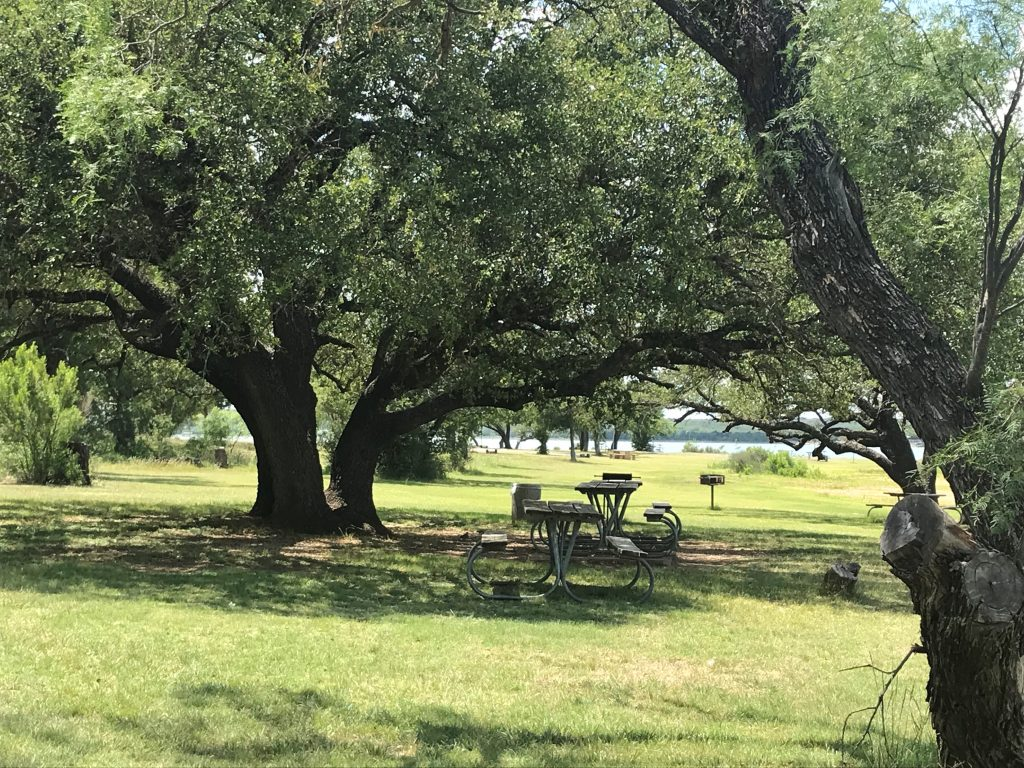 Lake Brownwood beach picnic area