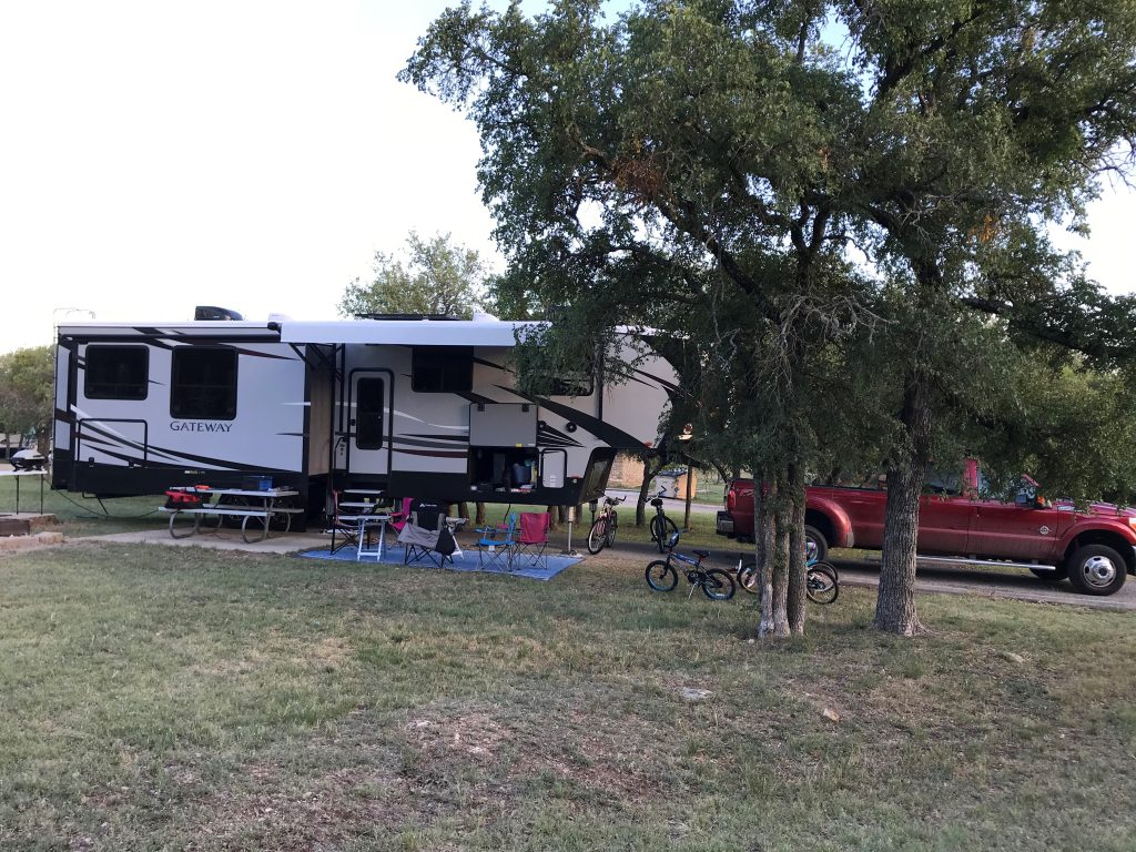 Lake Brownwood campsite