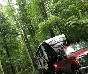 Our campsite at Cosby Campground