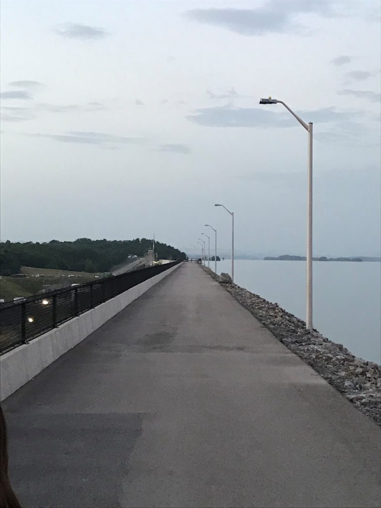 Paved trail to Cherokee Dam