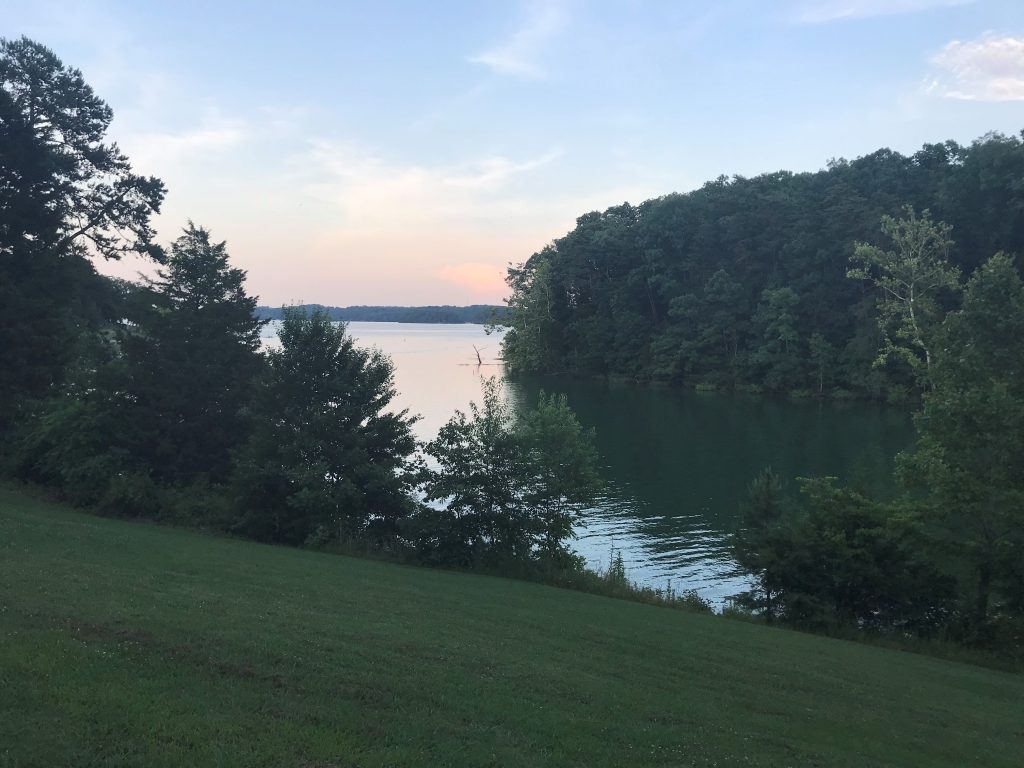 The view from our campsite at Cherokee Dam Campground