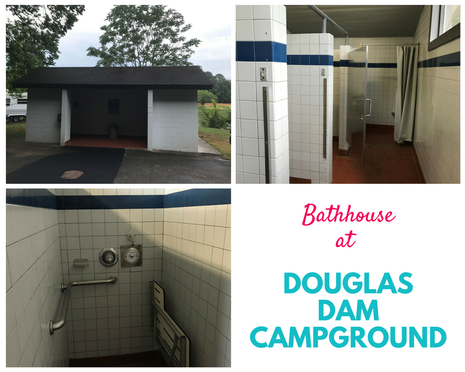 Bathhouse at Douglas Dam Campground