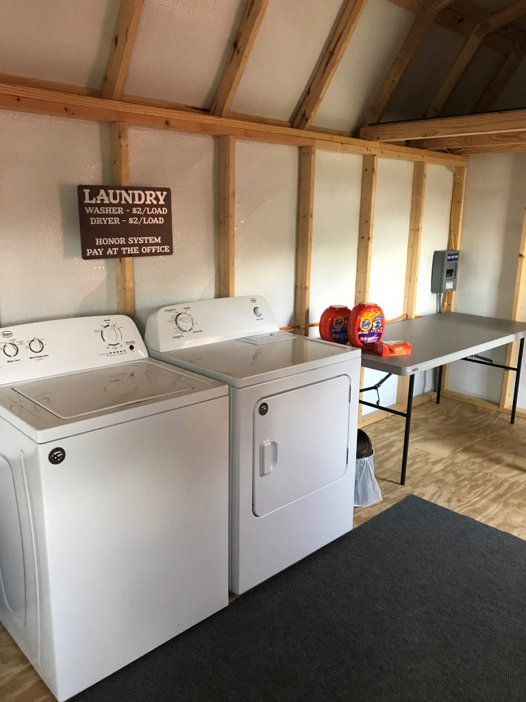 Duvall in the Smokies laundry area