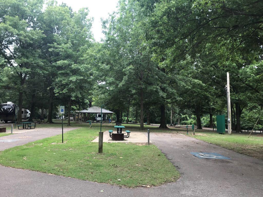 Handicap campsite at T.O. Fuller State Park