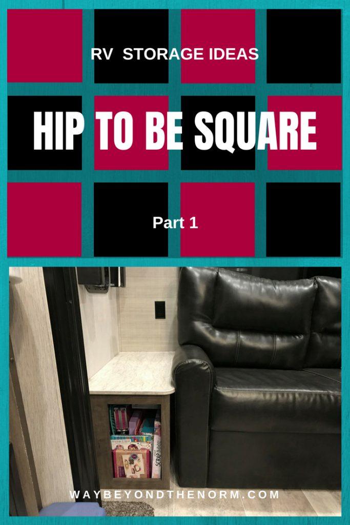 RV Square Storage Ideas pin image