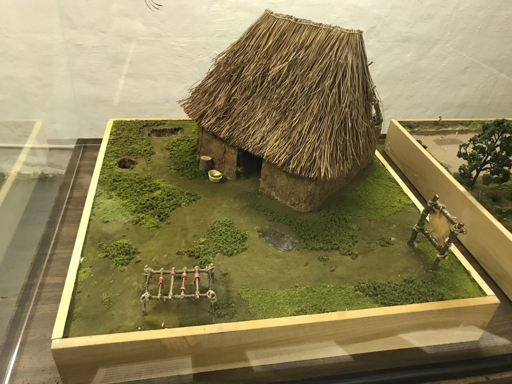 Small replica of the Indian mud house