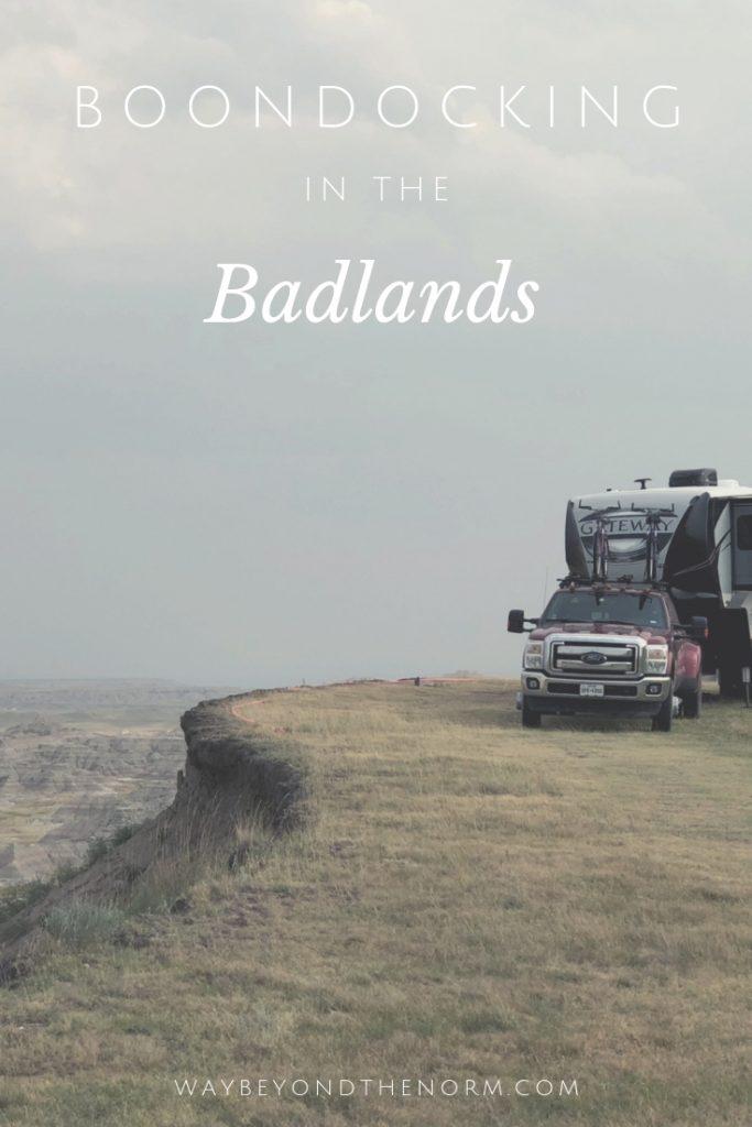 Badlands Boondocking