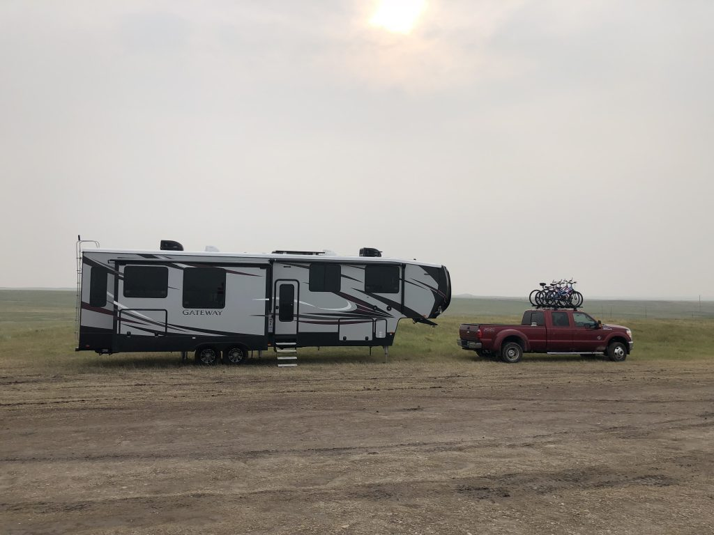 Badlands Boondocking first campsite