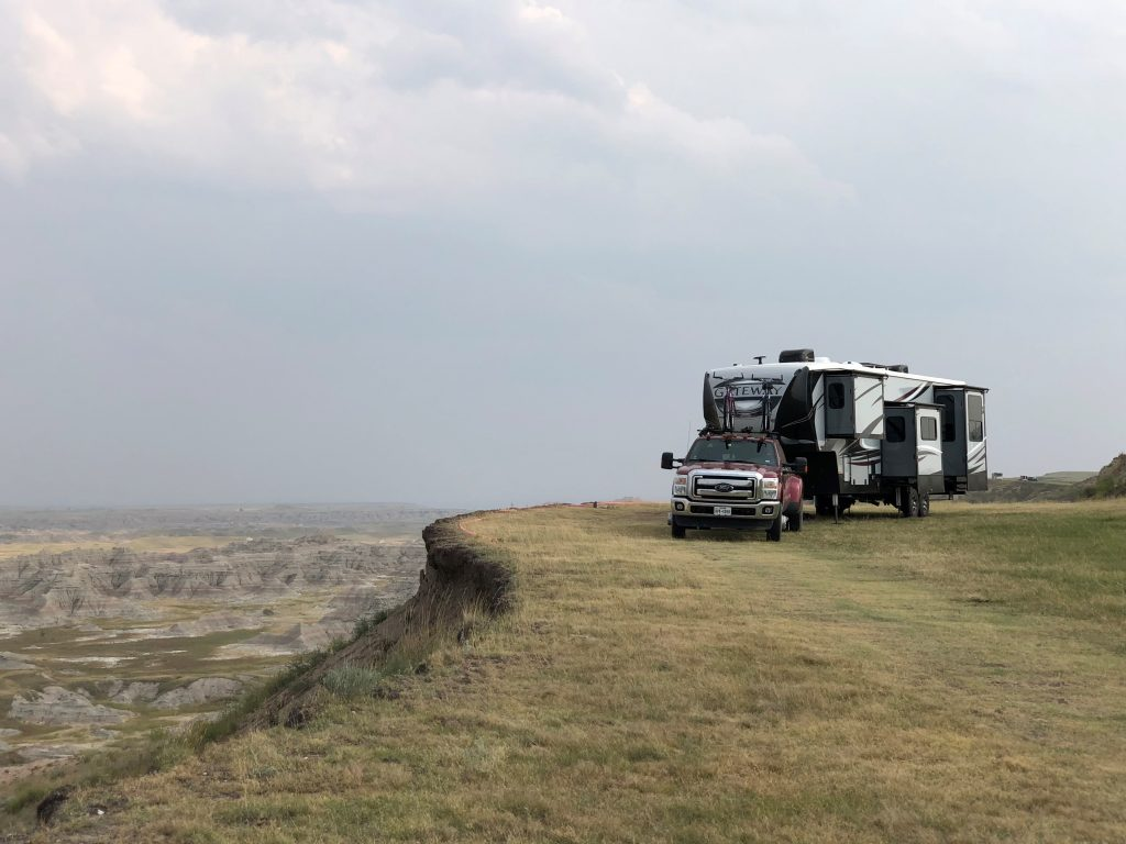 View from our second Badlands boondocking campsite