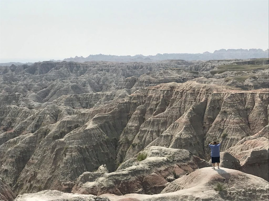 Brent overlooking the Badlands