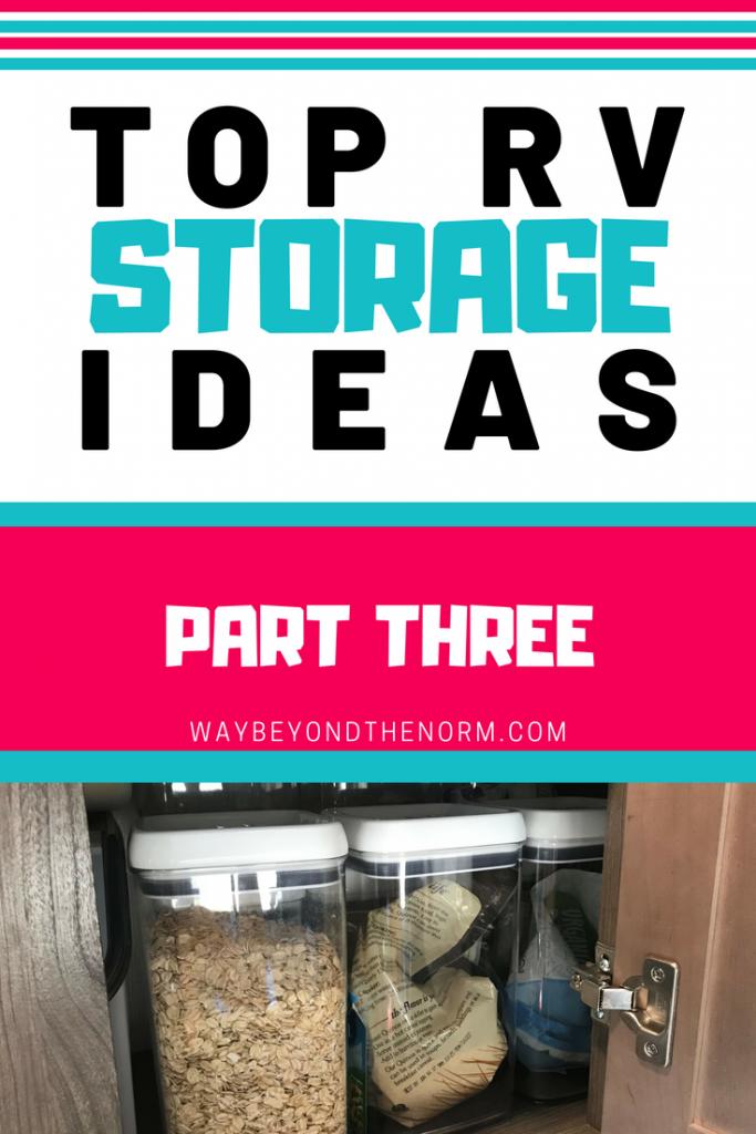RV Storage Ideas pin image