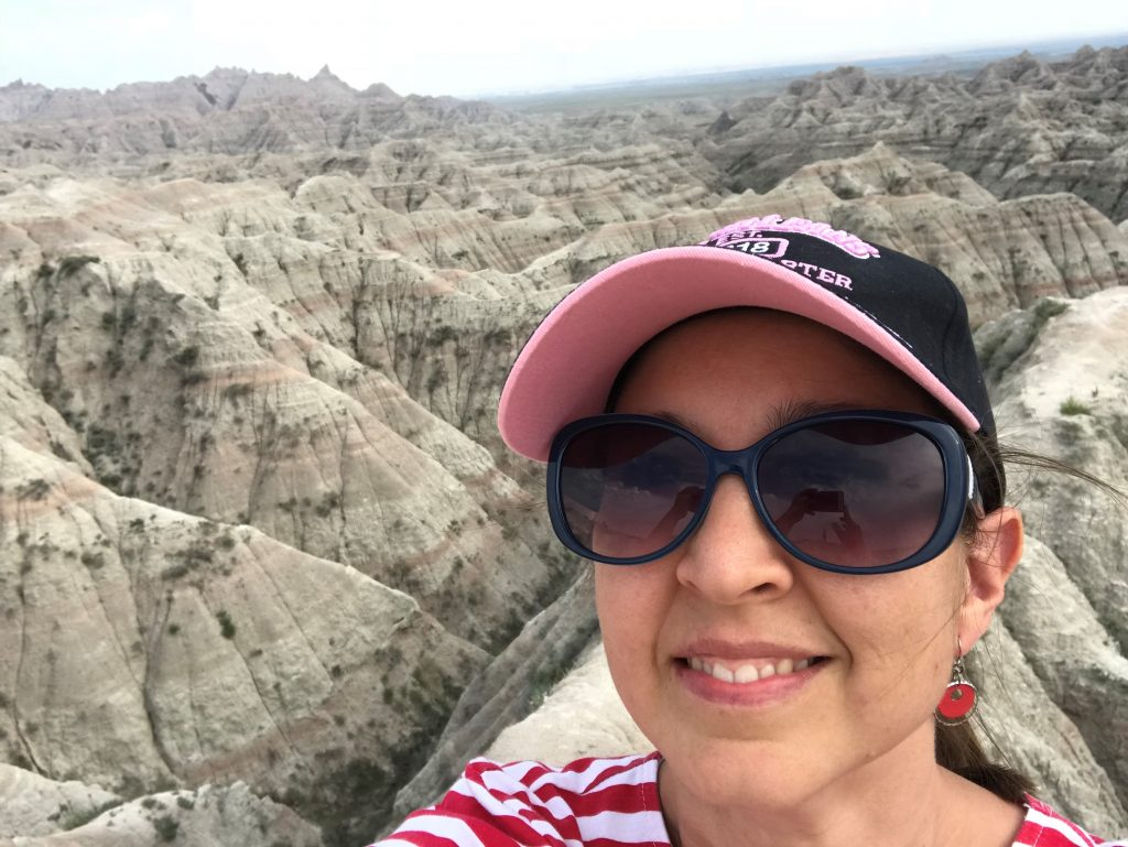 Kristi out in the Badlands