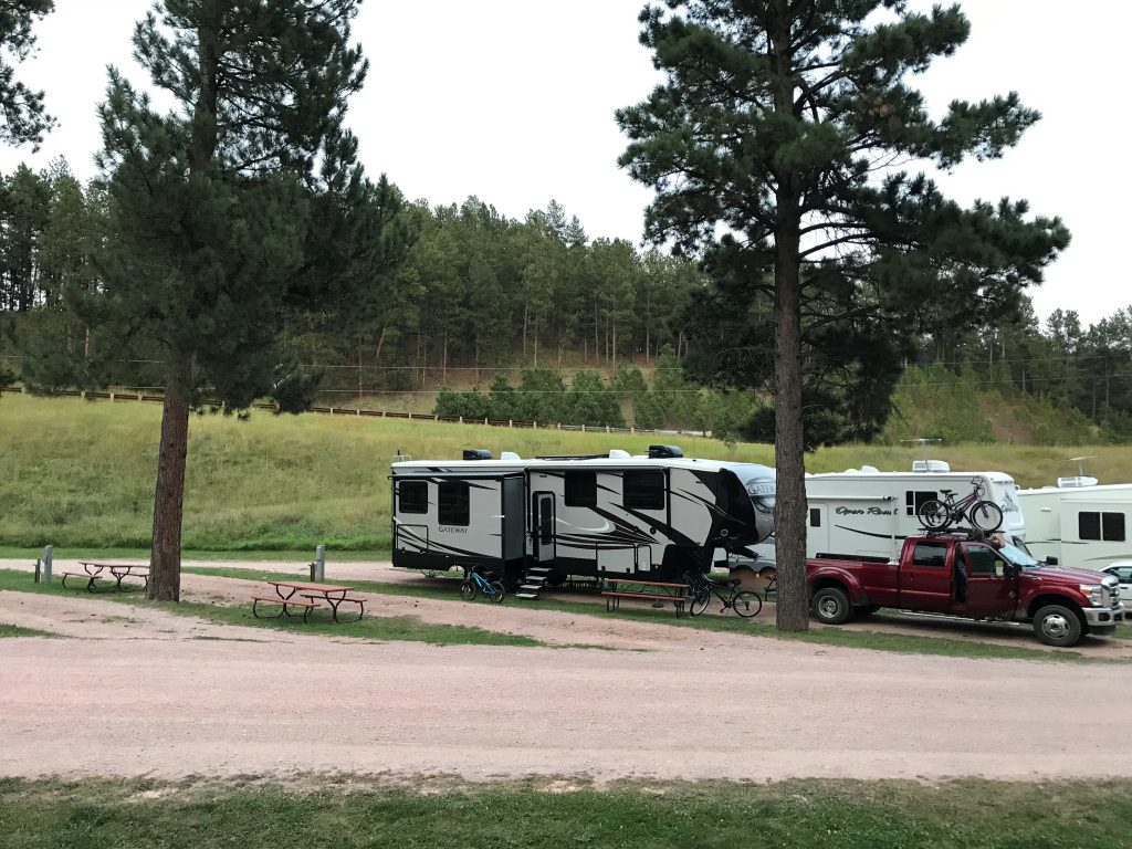 Our campsite at Holy Smoke Resort