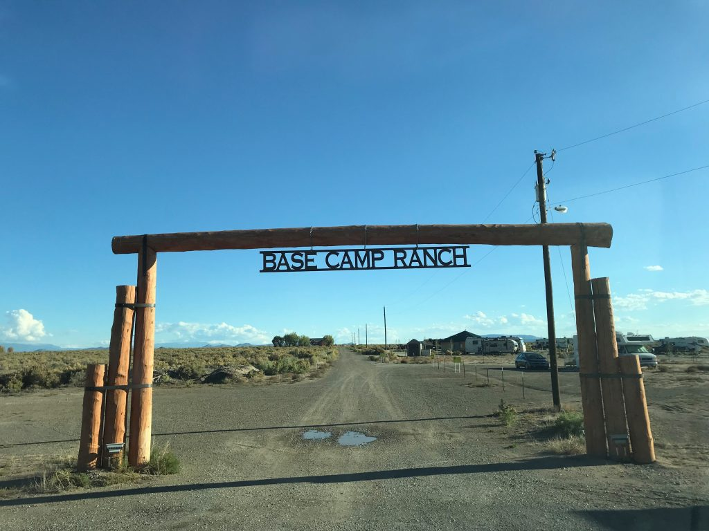 Base Camp Family Campground entrance