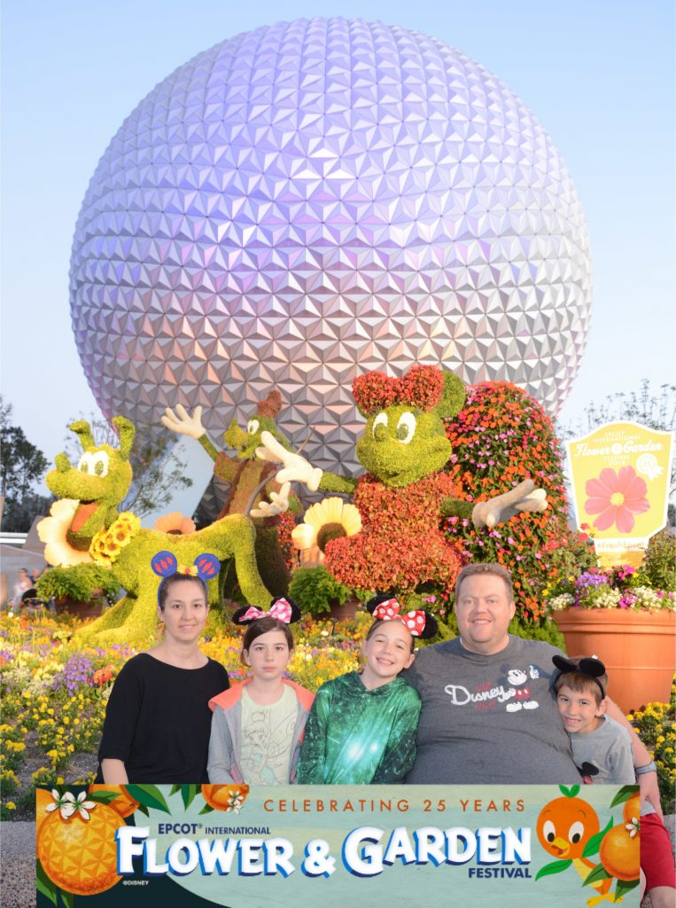 Photopass photo at Epcot