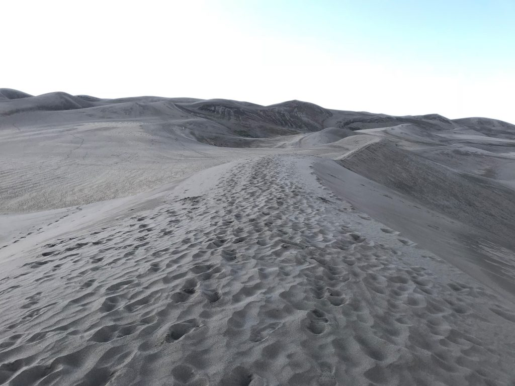 Climbing the dunes