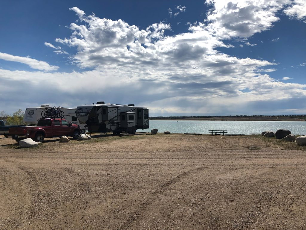 Standley Lake Regional Park campsite view