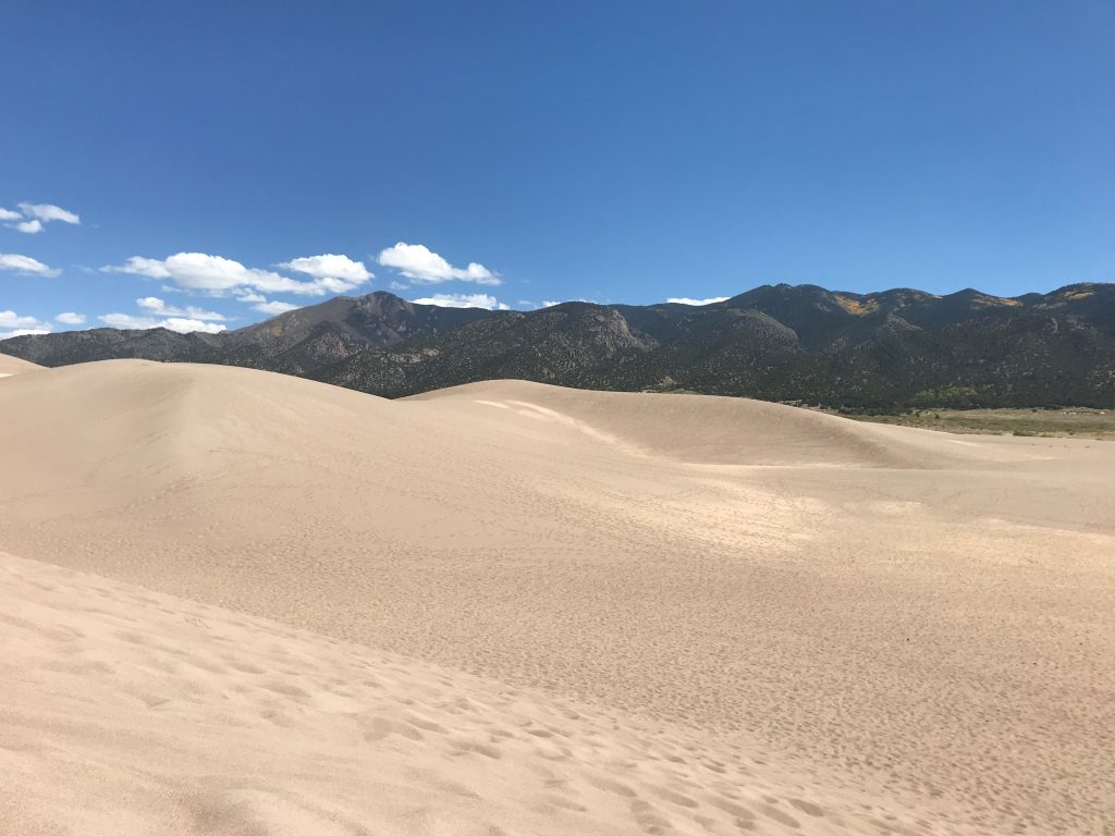 The dunes and the Sangre de Cristos