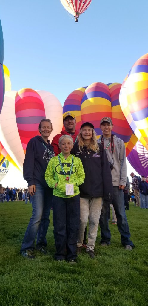 Schroeder Family at the balloon fiesta
