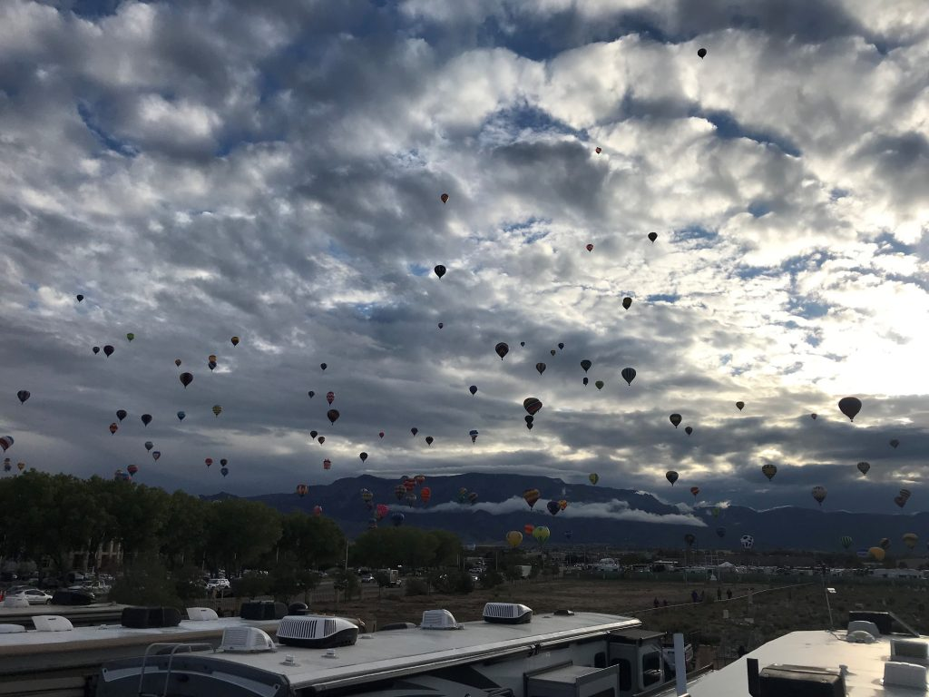 our view at the balloon fiesta