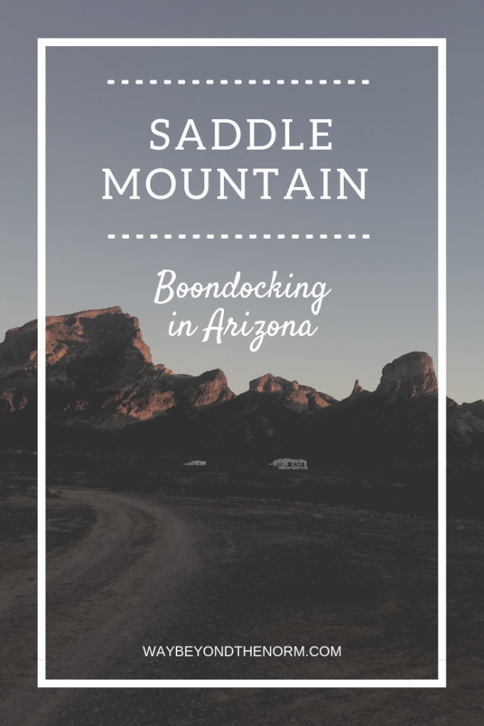 Some of the greatest camping spots are where there are no water, electric, or sewer hookups. If you're set up for boondocking, be sure to visit the Saddle Mountain BLM Dispersed Camping area. And bring your fly swatter! #ArizonaCamping #RVBoondocking #FreeCamping #WayBeyondTheNorm