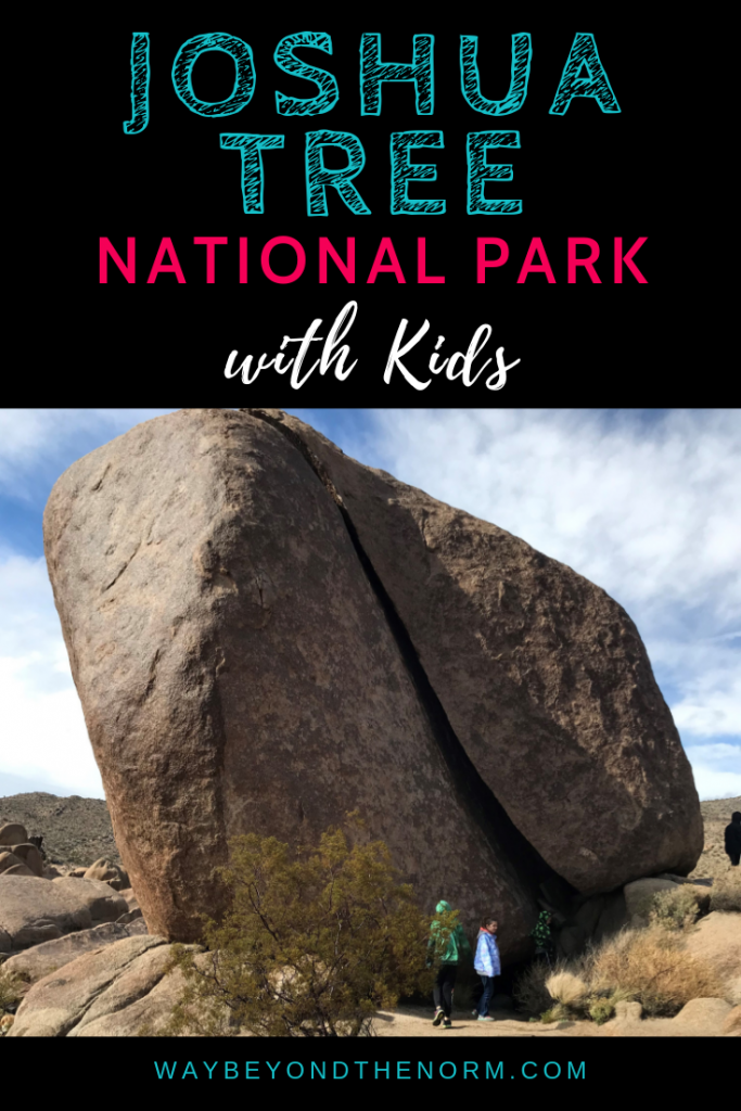 Planning a trip to Joshua Tree National Park with kids? Read on for a list of sights, activities, and exhibits that should be on your list of things to do. #JoshuaTree #NationalPark #Kids #WayBeyondTheNorm