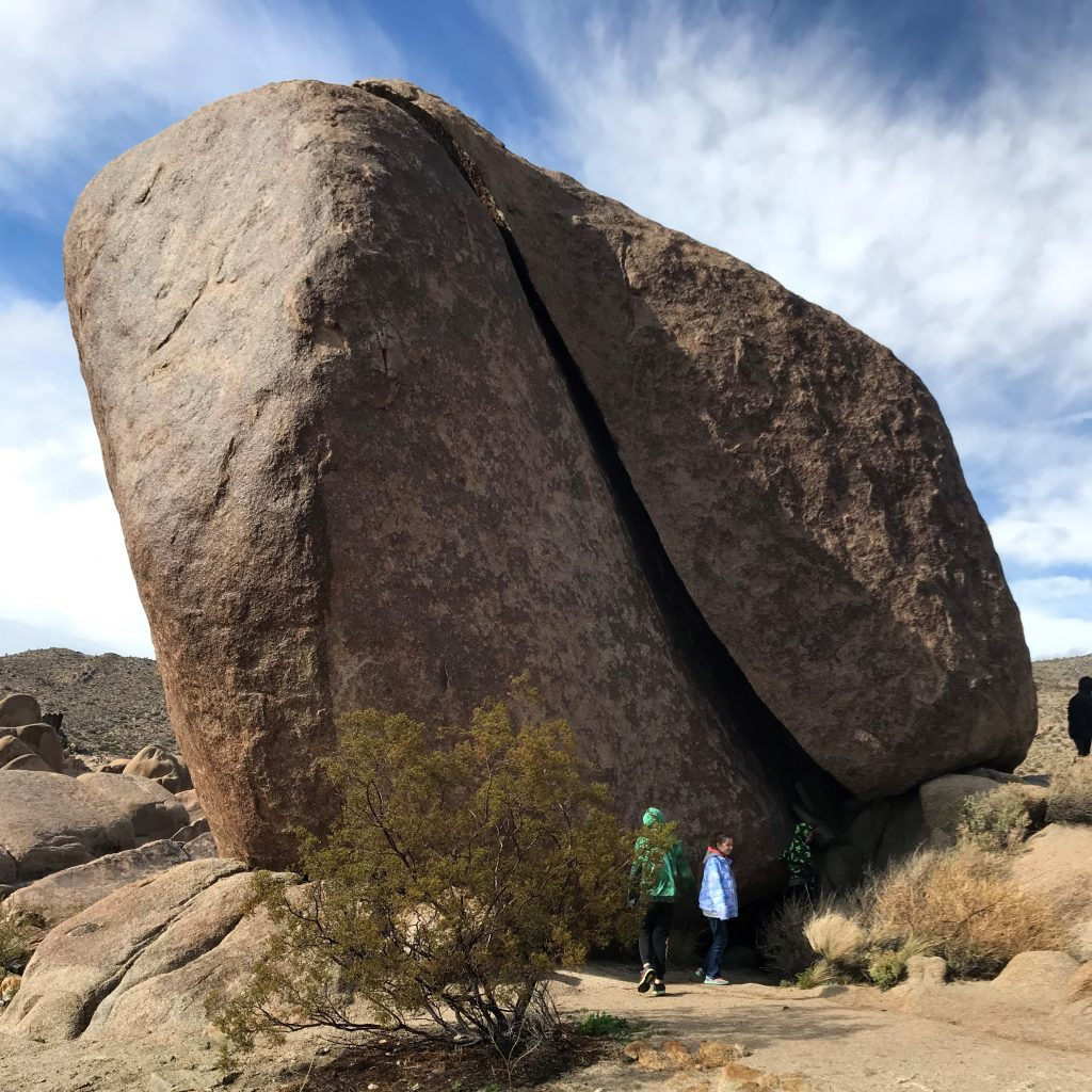 Joshua Tree National Park with the Kids at Split Rock