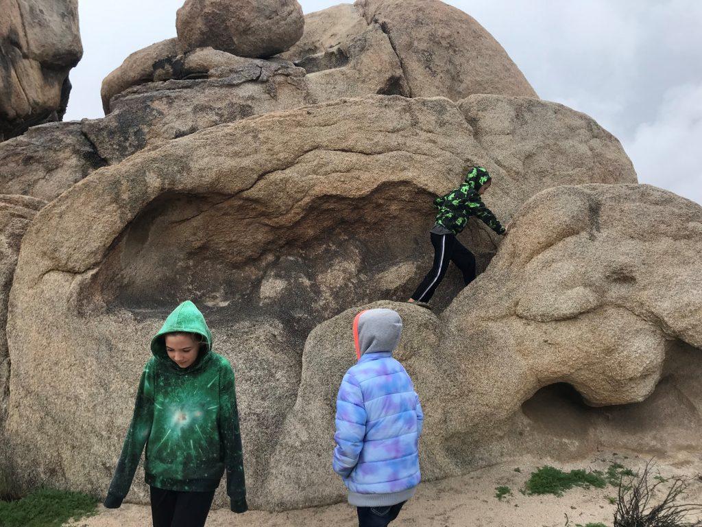 Joshua Tree National Park with the Kids exploring Jumbo Rocks