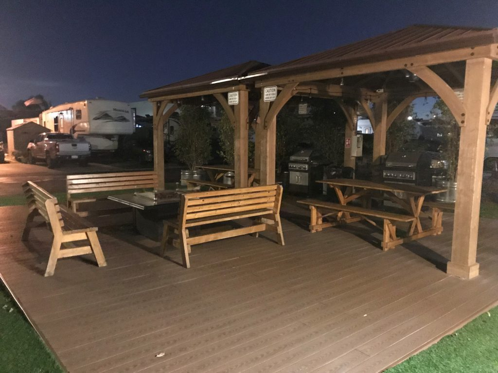 Anaheim Harbor RV patio area