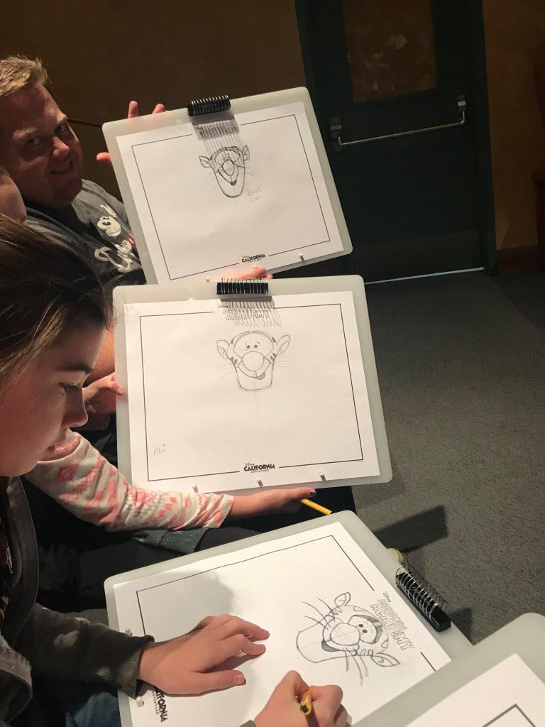 Drawing Tigger at Animation Academy