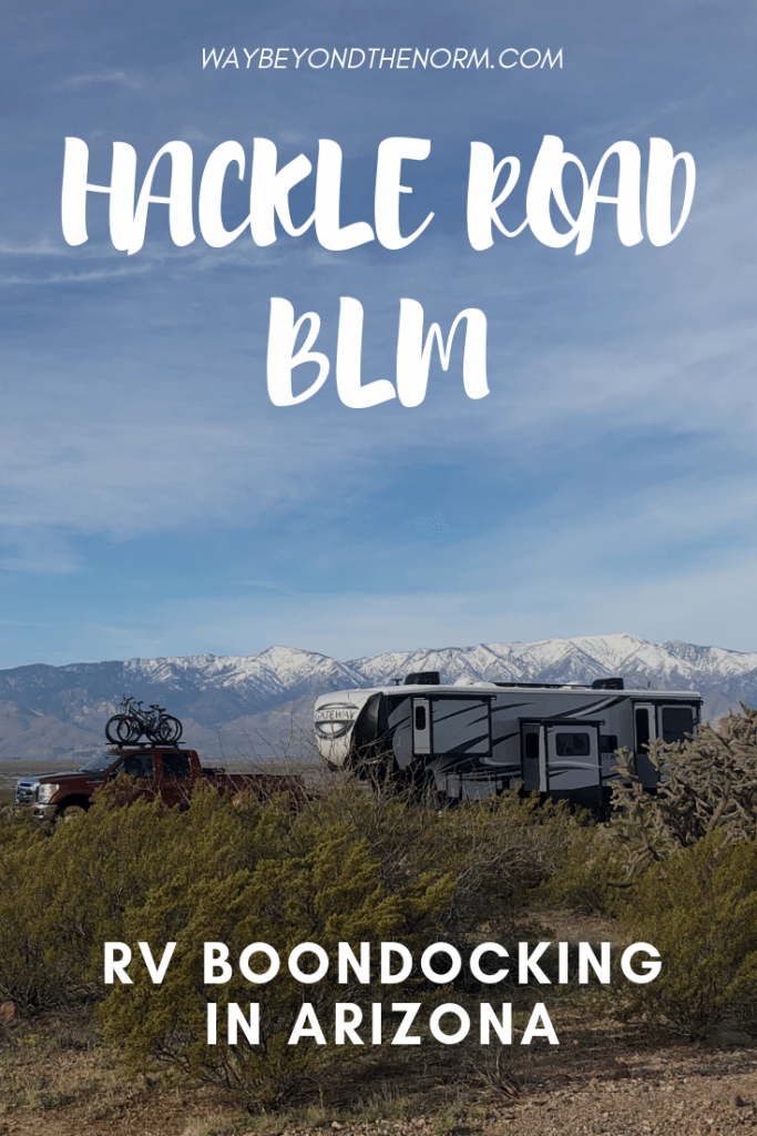 Hackle Road BLM Boondocking pin image