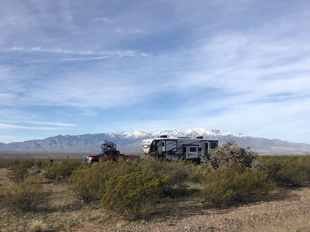 Hackle Road BLM Boondocking campsite