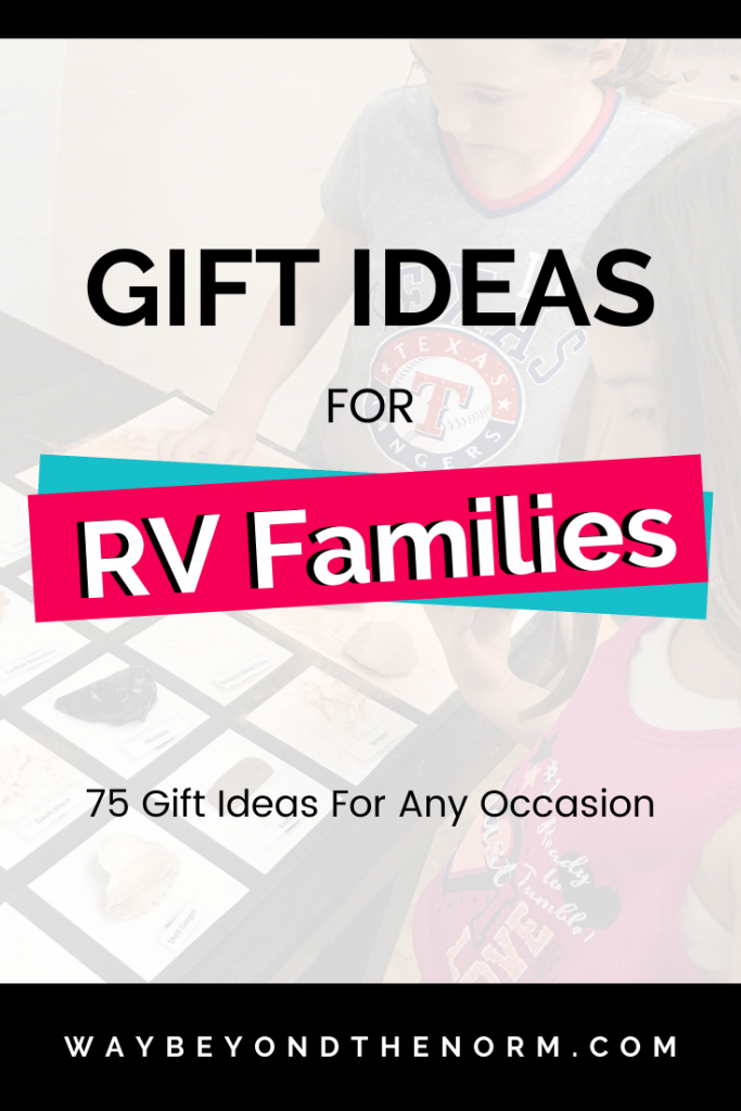 Gift Ideas for RV Families pin image