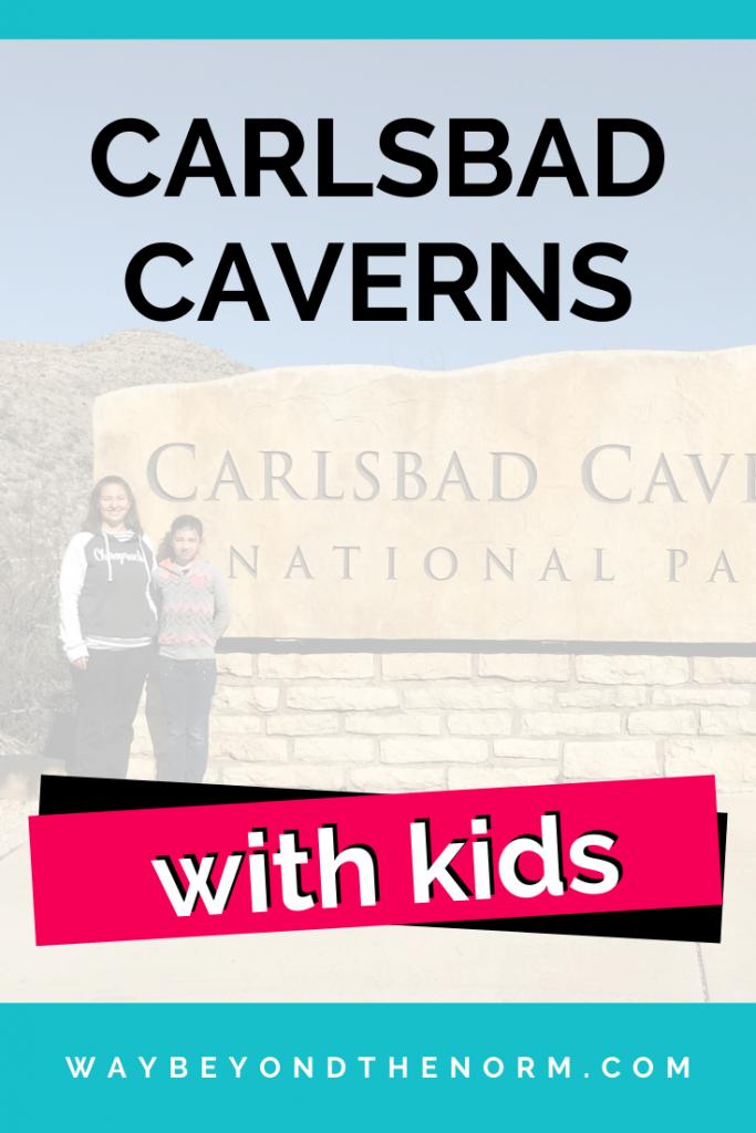 Carlsbad Caverns With Kids pin image