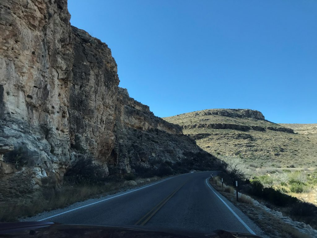 Chihuahuan Desert road to Carlsbad Caverns