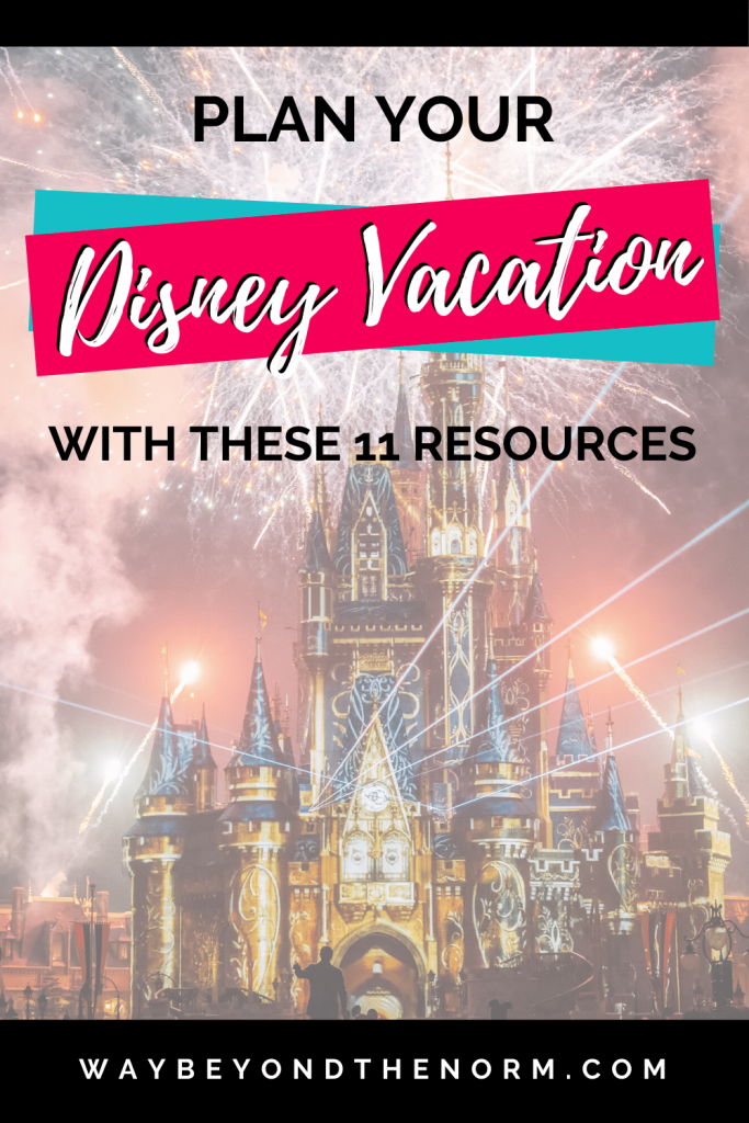 Disney Vacation Planning Resources Pin