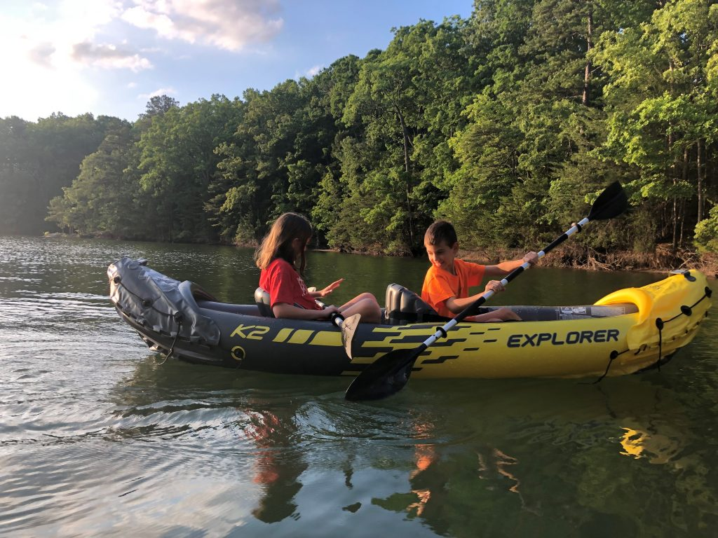 Kayaking at Shady Grove Campground