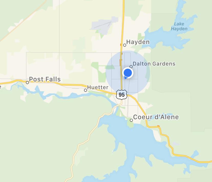 Kootenai County Fairgrounds RV Park location