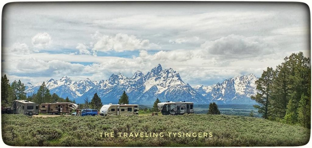 Upper Teton View - Toppings Lake Dispersed Campsites